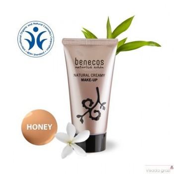 """Benecos Natūralus kreminis makiažo pagrindas """"Honey"""", 30 ml"""