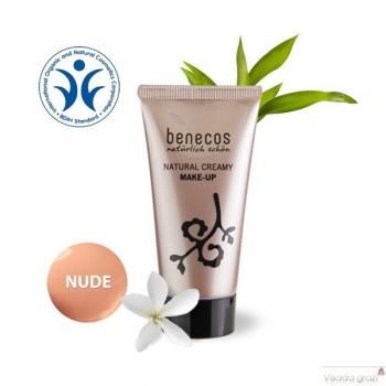 """Benecos Natūralus kreminis makiažo pagrindas """"Nude"""", 30 ml"""
