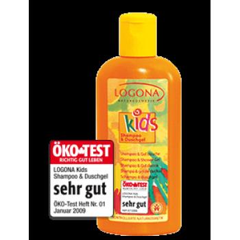 Logona Natūralus dušo gelis ir šampūnas vaikams, 200 ml